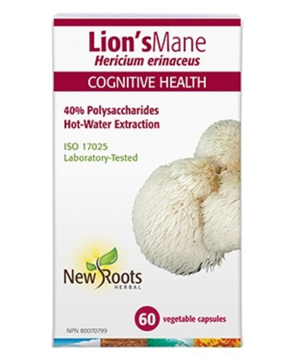 New Roots Lion's Mane Hot Water Extraction 500mg 60 caps