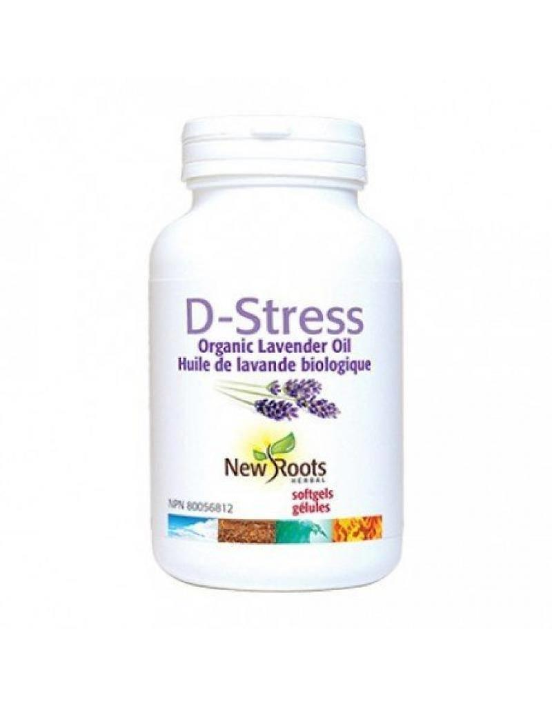 New Roots D-Stress Organic Lavender Oil 30 softgels