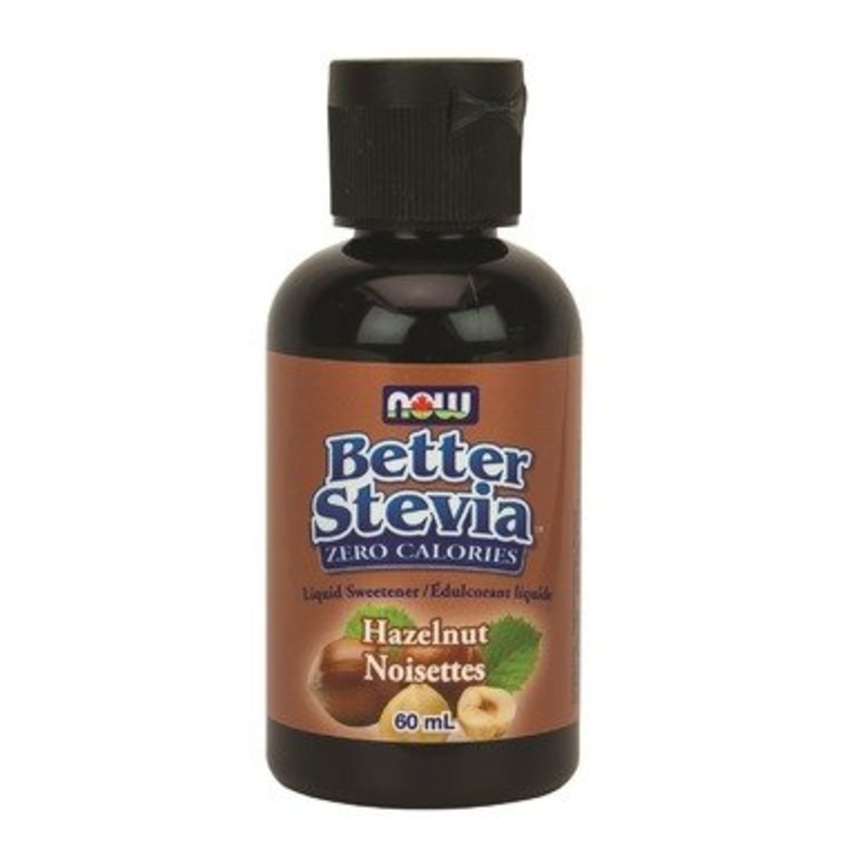 NOW NOW Better Stevia Liquid Sweetener- Hazelnut 60ml