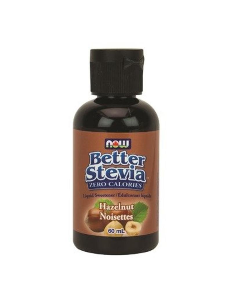 NOW Better Stevia Liquid Sweetener- Hazelnut 60ml