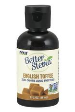 NOW Better Stevia Liquid Sweetener- English Toffee 60ml