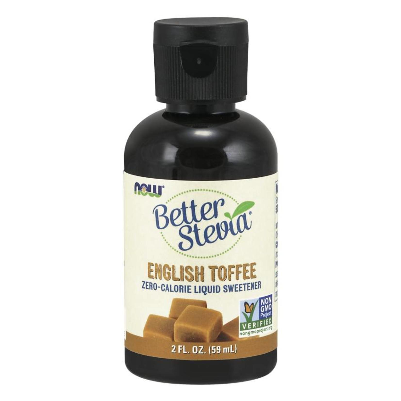 NOW NOW Better Stevia Liquid Sweetener- English Toffee 60ml