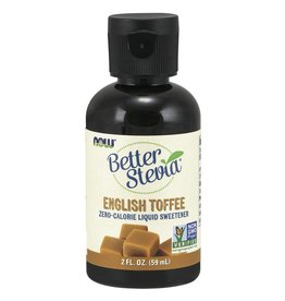 NOW Better Stevia Liquid Sweetener- English Toffee 60ml