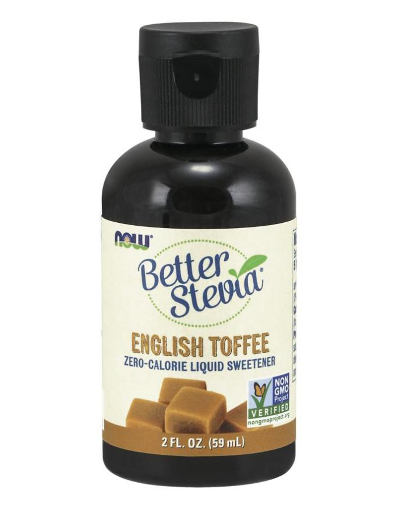 NOW NOW Better Stevia Liquid Sweetener- English Toffee 60ml