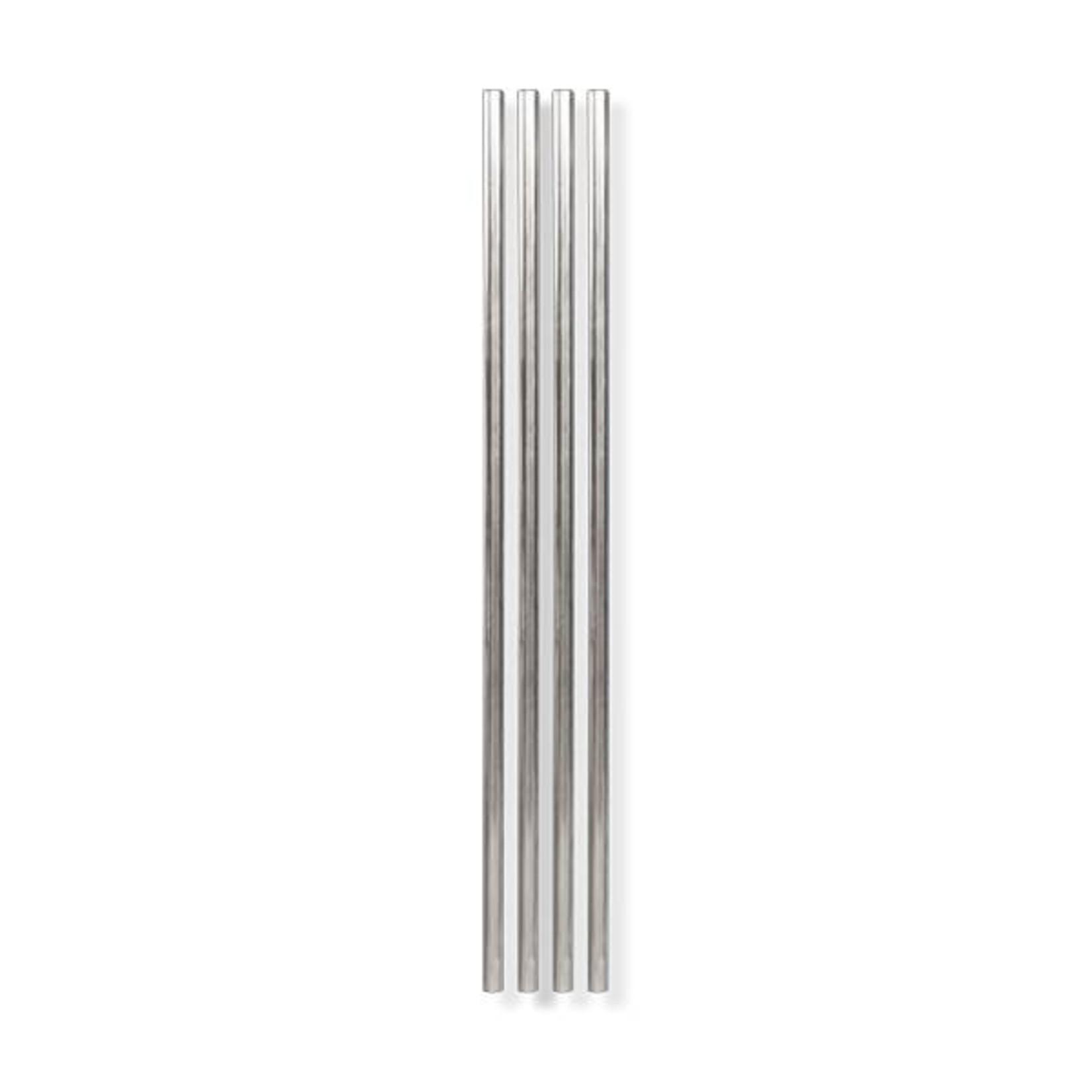"Metal Straws 10"" - Set of 4 Silver"