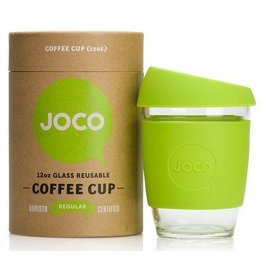 Joco Reusable Glass Cup - Lime 12 oz