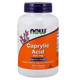 NOW NOW Caprylic Acid 600mg 100 softgels