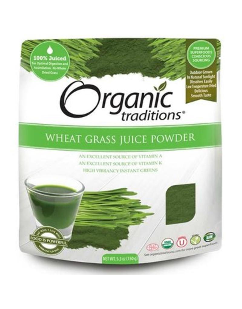 Organic Traditions Wheat Grass Juice Powder Organic 150g