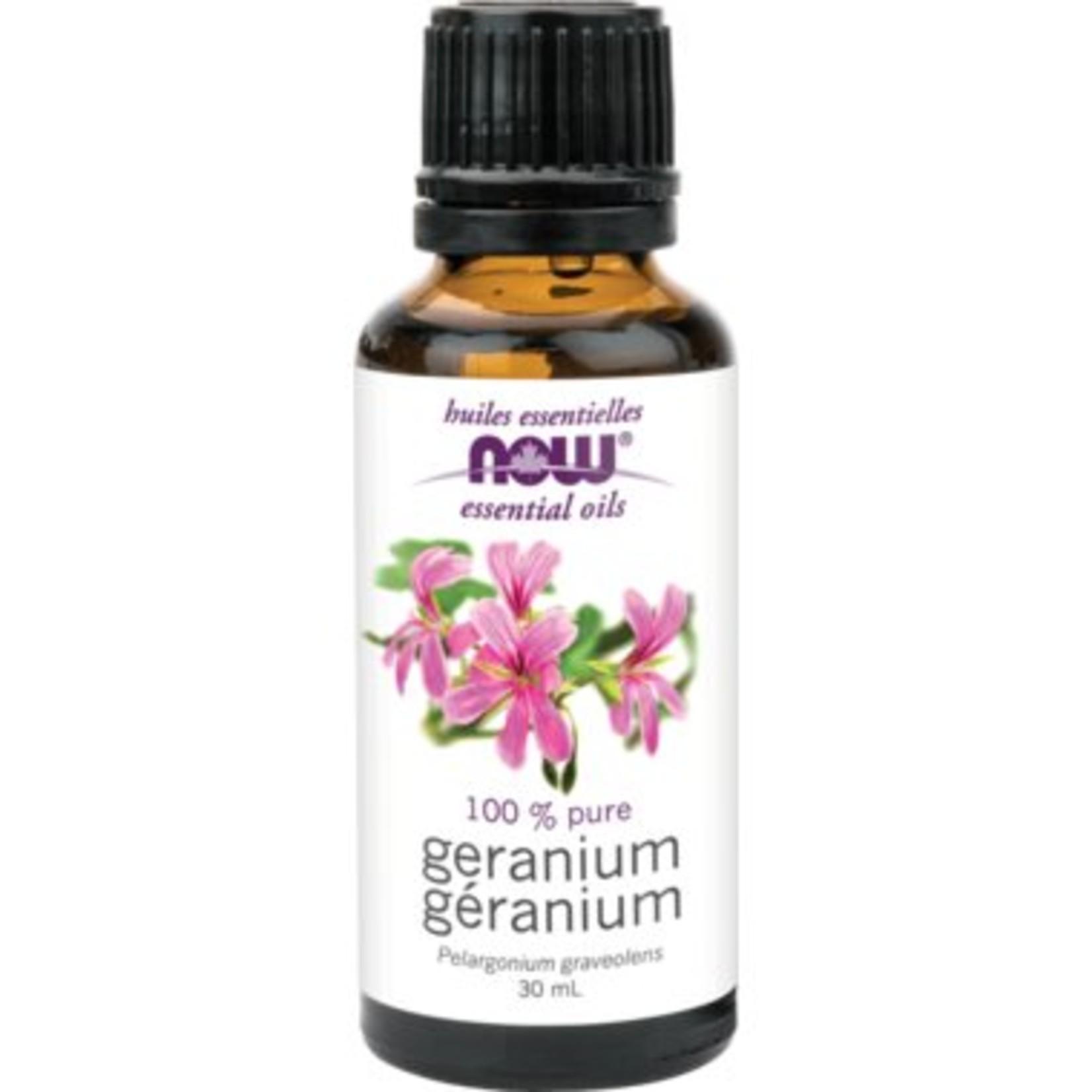 NOW NOW Geranium Oil, Pure 30mL