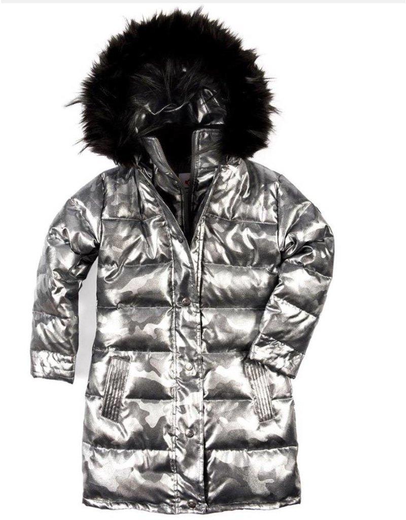 Appaman Appaman Gunmetal Camo long coat