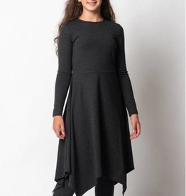 PC2 Girls ribbed asymmetrical dress