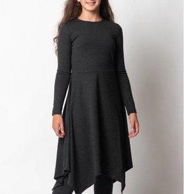 PC2 PC2 Girls ribbed asymmetrical dress