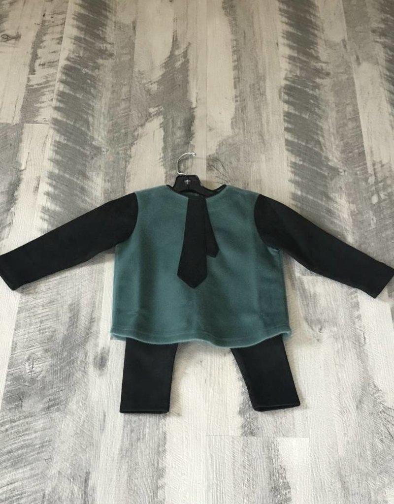 Whitlow & Hawkin Ruffle Tie Baby Boy Set