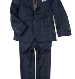 Appaman Appaman Navy Glen Plaid Suit