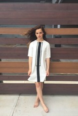 Picadilly Picadilly white tuxedo dress