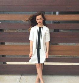 Picadilly Picadilly white tuxedo dress
