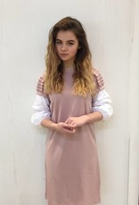 Picadilly Picadilly rose puff cuff dress