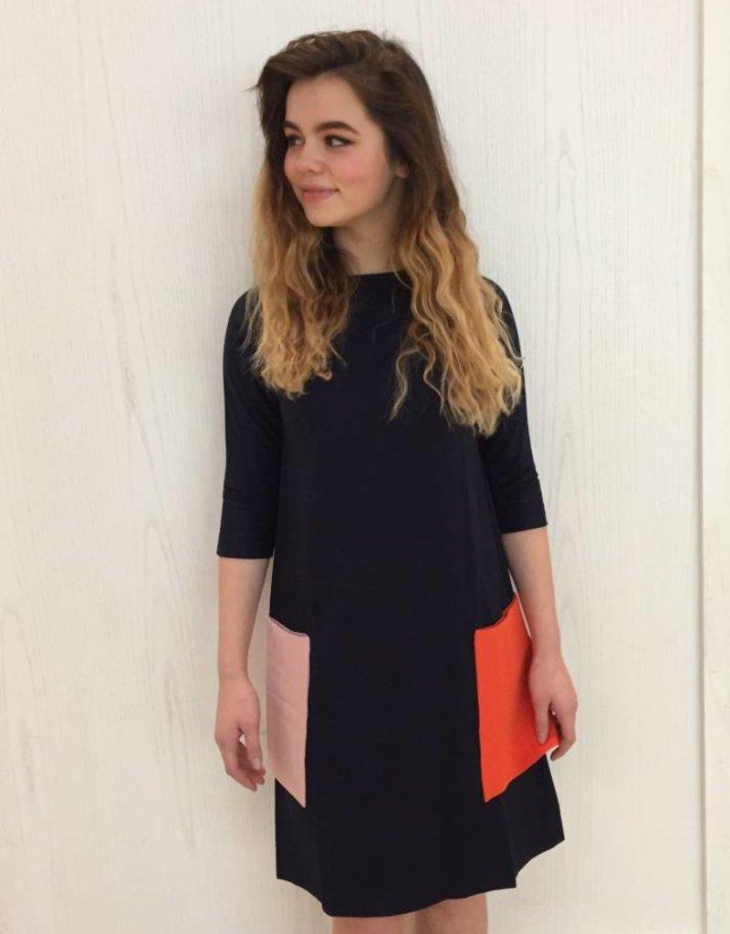 Picadilly Picadilly pocket splash dress