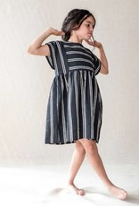 Belle Chiara Belle Chiara 366 Black stripe dress