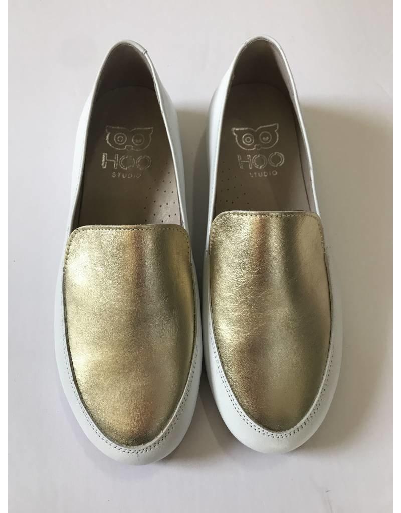 Hoo Hoo White Gold Leather Loafer