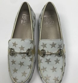 Hoo Hoo White Star Print loafer