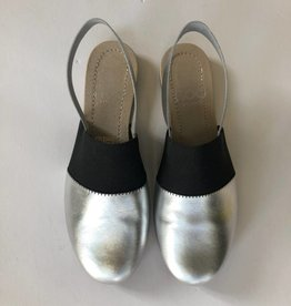 Hoo Hoo Silver and Black sling back