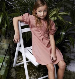 kipp Kipp TD1962 Blush Smocked V Dress