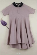 popelin Popelin 25.2 dusty pink cape dress