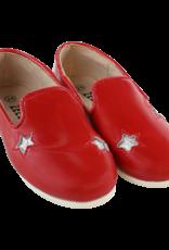 Zeebra zeebra Red and silver star loafer