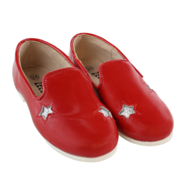 Zeebra zeebra Red and silver star loafer