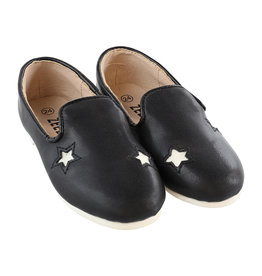 Zeebra Zeebra Black and white star loafer