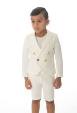 PC2 Petit Clai boys white blazer set