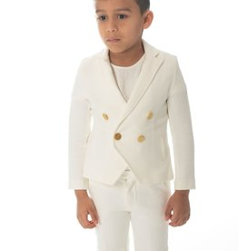 PC2 Petit Clair boys white blazer set