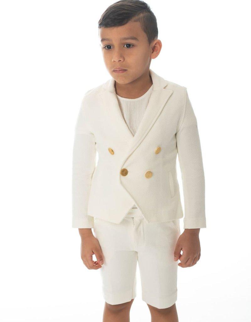 PC2 Petit Clai boys white blazer set