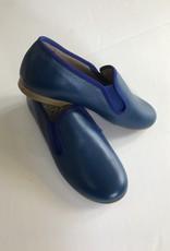 Hoo Hoo Cobalt leather smoking shoe