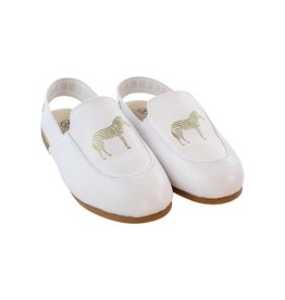 Zeebra Zeebra White logo slingback slippers