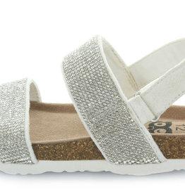 Hoo Hoo Ella Silver Rhinestone Sandal