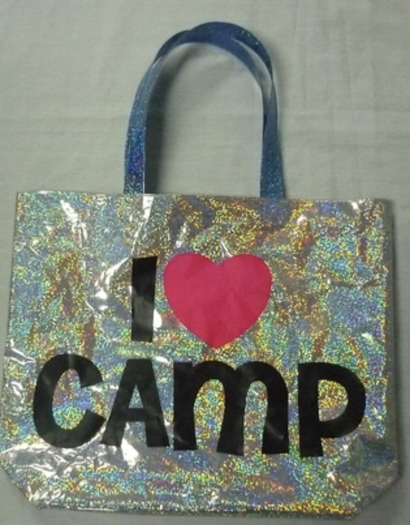 Confetti Camp Metallic Tote Bag