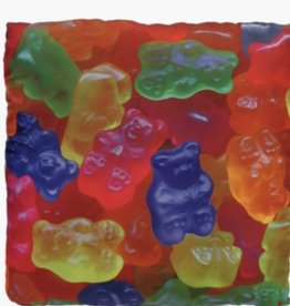 Confetti Camp Gummy Bear Atgraph Pillow