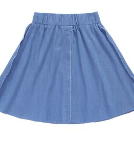 PC2 PC2 outside seam skirt in light blue