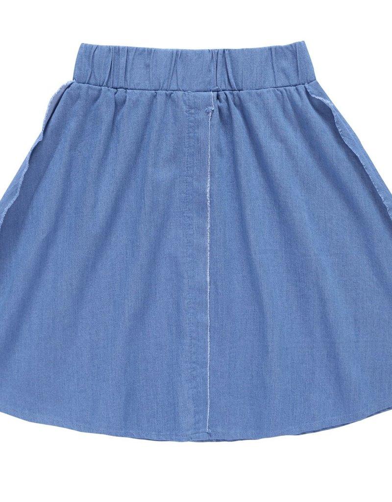 PC2 PC2 outside seam skirt in light blue