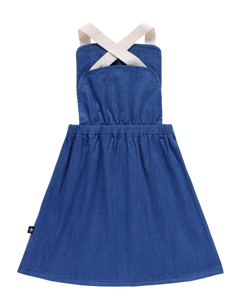 PC2 PC2 girls denim pinafore dress