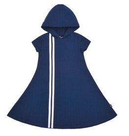 PC2 PC2 Girls' Hooded Sport Stripe Dress in Blue
