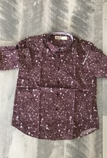 nove Nove Burgundy Spotted Shirt