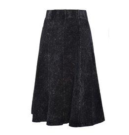 Junee Junee Panel Mineral Wash Black skirt