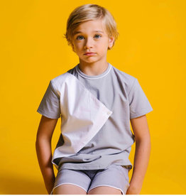 little cocoon TD1924 Grey Flap Shirt