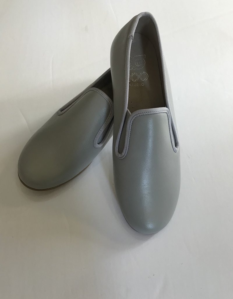 Hoo Hoo Grey leather smoking shoe