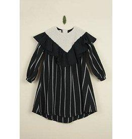 popelin Popelin Black Yoke Dress w/ Frill