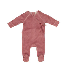 Lil leggs Lil Leggs Rose Velour Wrap Footie