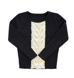 kipp Kipp G1613 Intarsia Sweater Black